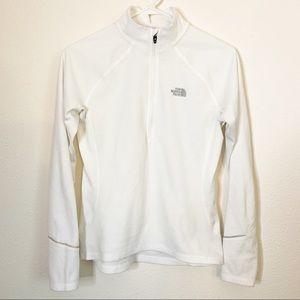 The North Face White 1/2 ZIP Fleece Sweatshirt M